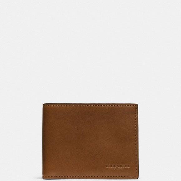 599b18a278 NWT Coach Men's Slim Billfold ID Wallet NWT